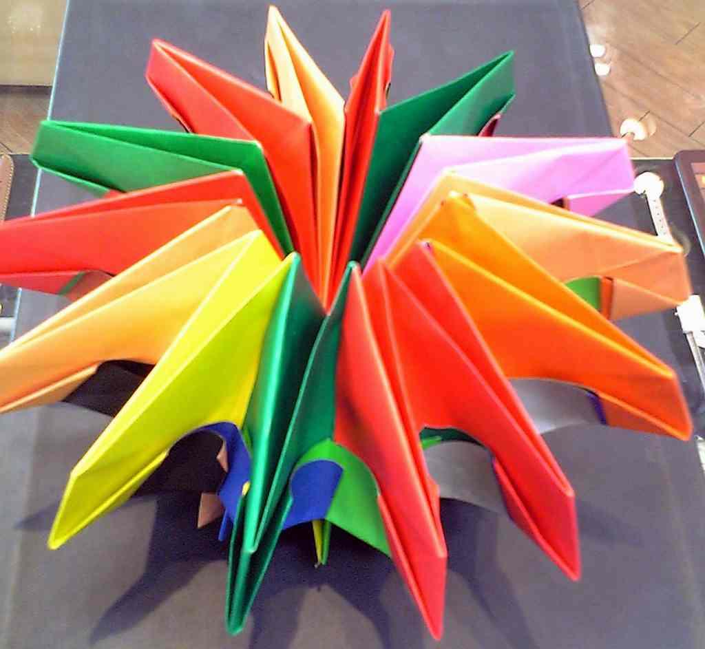 折り紙 万華鏡 作り方 折り紙でおしゃれな万華鏡を作る方法!材料は折り紙7枚でできるよ!