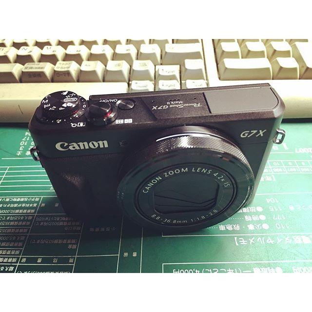 カメラを買いました(^^) CanonのG7X Mark2という機種です。