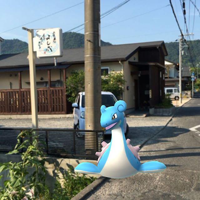 よし成にラプラス出現。店休日でした(^^) #ポケモンgo #pokemongo #因島 #innoshima