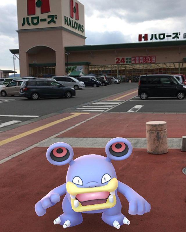 ハローズ因島店前でドゴーム初ゲット。#ドゴーム #ポケモンgo #pokemongo #因島 #ハローズ