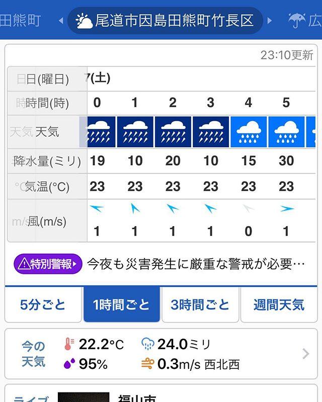 因島田熊町朝方超雨降りそうなんじゃけど大丈夫じゃろうか。