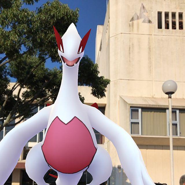 因島市民会館で色違いルギアゲット。#因島 #ルギア #ポケモンgo #pokemongo