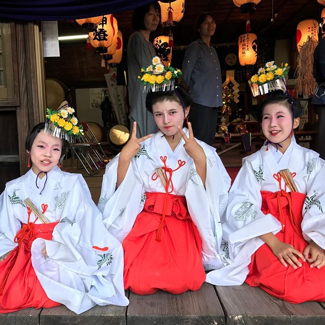 巫女#因島 #因島田熊 #巫女 #秋祭り
