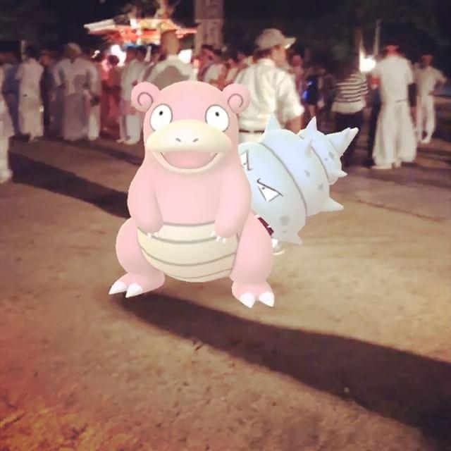 因島田熊町の秋祭り。ヤドランゲットからの跳楽舞。#因島 #因島田熊 #ポケモンgo #pokemongo #ヤドラン