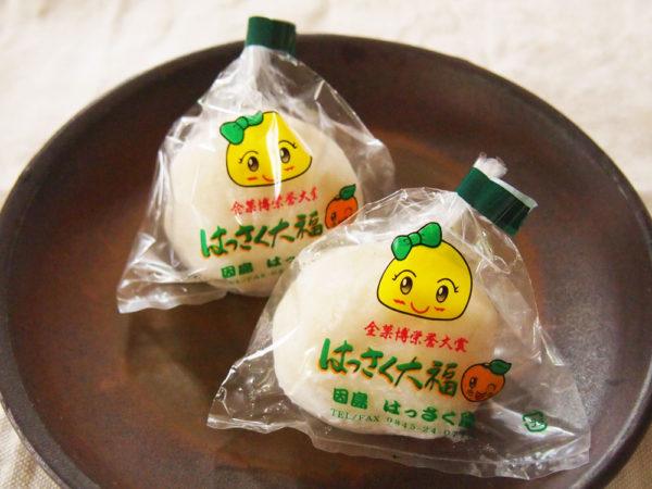はっさく大福を買える店が東京でふえたよ。