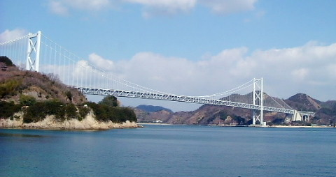 『布刈瀬戸』と『しまなみ海道・因島大橋』