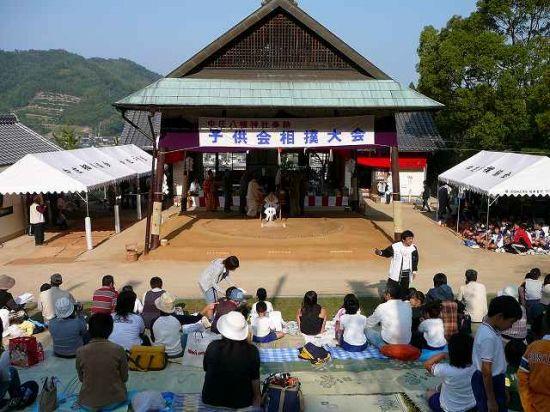 因島中庄町八幡神社奉納相撲