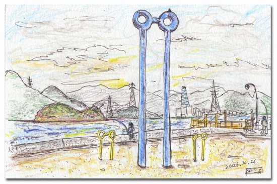 ひょうたん島と千里眼(瀬戸田町垂水)