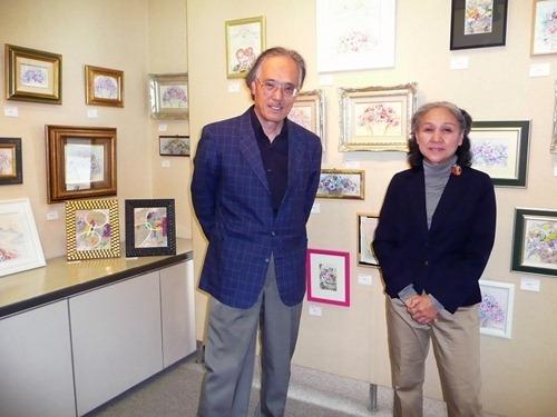 阿部・奥中さんが仏でふたり絵画展
