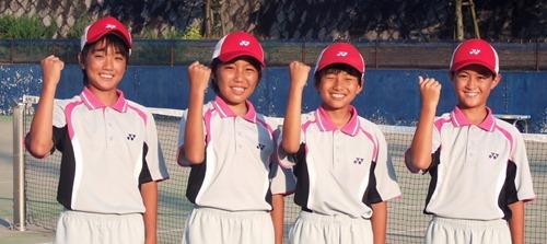 ソフトテニス 因島の2ペア 全国大会出場へ