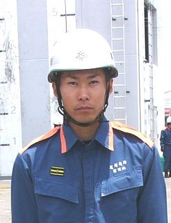 全国消防技術大会 高垣拓孝さん出場