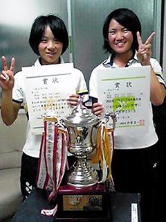 ソフトテニス柏原香澄選手西日本で優勝
