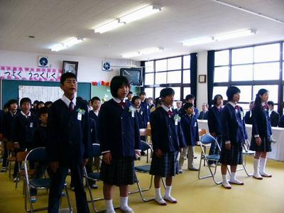 [3月25日] 来年4月因北小に統合 大浜小で5人が卒業式