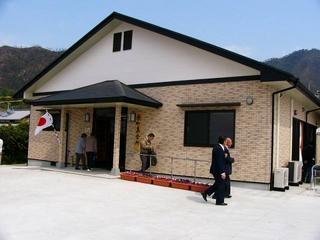 [5月 6日] 念願の原町集会所が完成 住民あげての募金が実る
