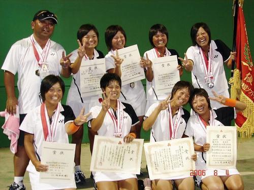 [8月12日] 高校総体ソフトテニス 松山商業女子が準優勝 柏原(因島出身)阿部組4強逃す