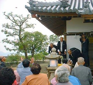 [11月 2日] 盛大に落慶式典 鏡浦町 厳島神社