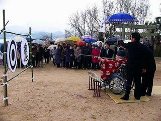 [1月15日] 東生口原町たなつ神社 初祈祷でお弓神事