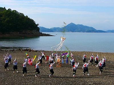 [8月21日] 県無形民俗文化財 中世しのぶ法楽踊り 椋浦町と外浦町で