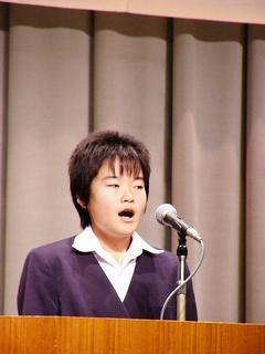 [11月20日] 英語暗誦大会 中学生が発表