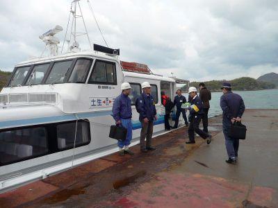 高速艇・フェリーで因島海事事務所ら年末年始安全総点検
