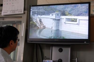 因島の水がめ「奥山ダム」入梅前日に貯水量50% 秋口には満水見込み