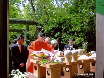 除虫菊神社(向島)創業者称え例祭
