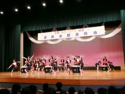 京都としまなみ海道 小中学生が太鼓交流