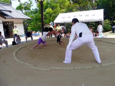 わんぱく相撲因島場所 過去最多の52人が熱戦 3人が国技館全国大会へ