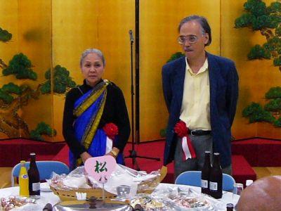 奥中清三・阿部純子二人展 地元因島で歓迎の祝賀会