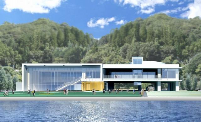 新庁舎イメージ図(尾道市提供)